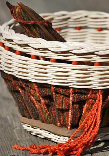 loom woven basket
