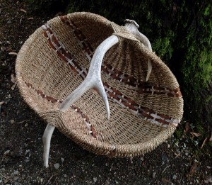 Elk Antler Ribbed Basket/the Basket Case