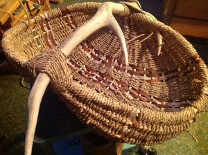 Elk Antler Ribbed Basket almost finished